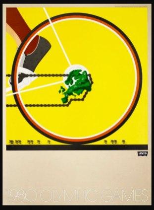 "1980, ""1980 Olympics-Cycling"", Artist: Nicolas Sidjakov"