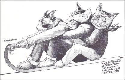 Schumaker Self Promo Cats Rapidograph