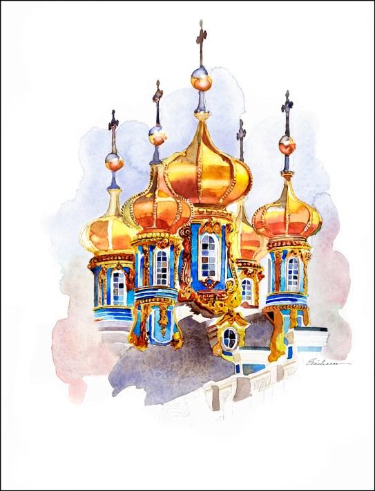 Cathernine Palace domes