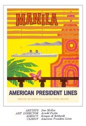 1958 American President Lines Manila