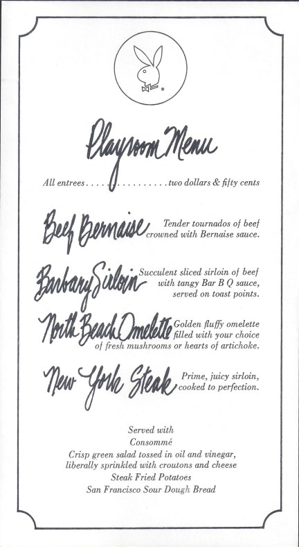 Playroom Menu
