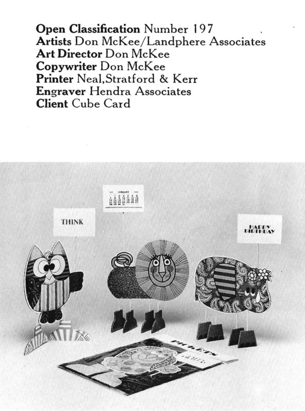 1967 Cube Card