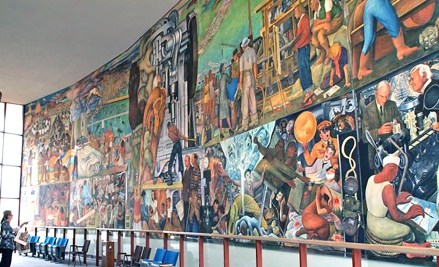 CCSF Rivera Mural from south