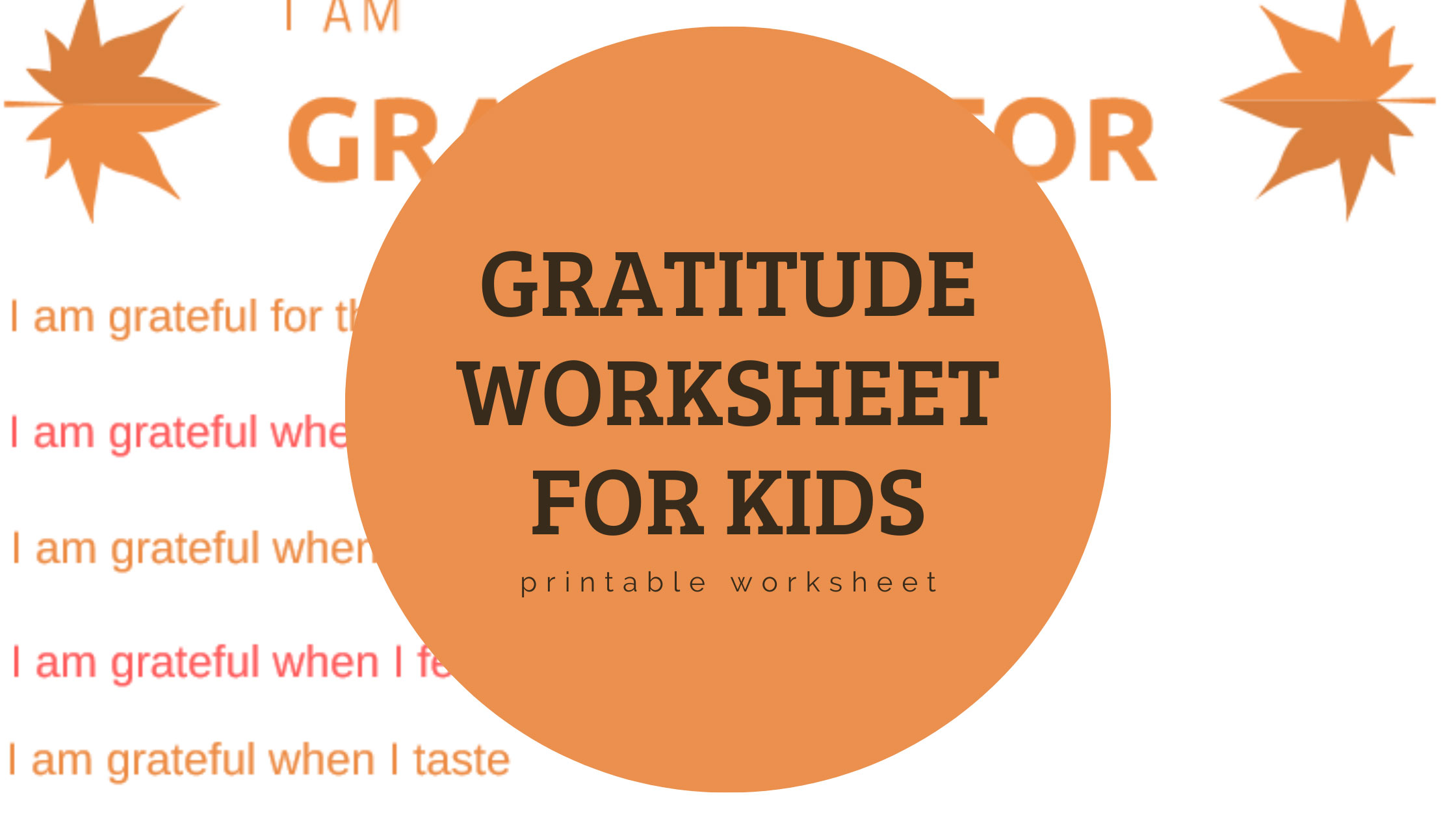 Fun Gratitude Printable Worksheet For Students And Teachers