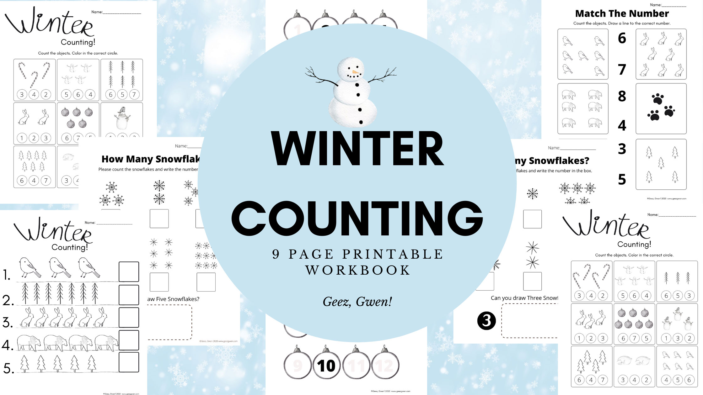 Winter Counting Workbook