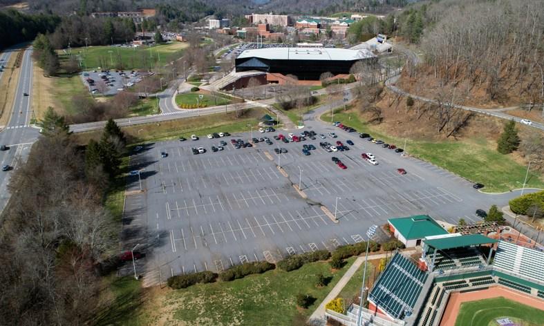 Baseball Lot aerial view