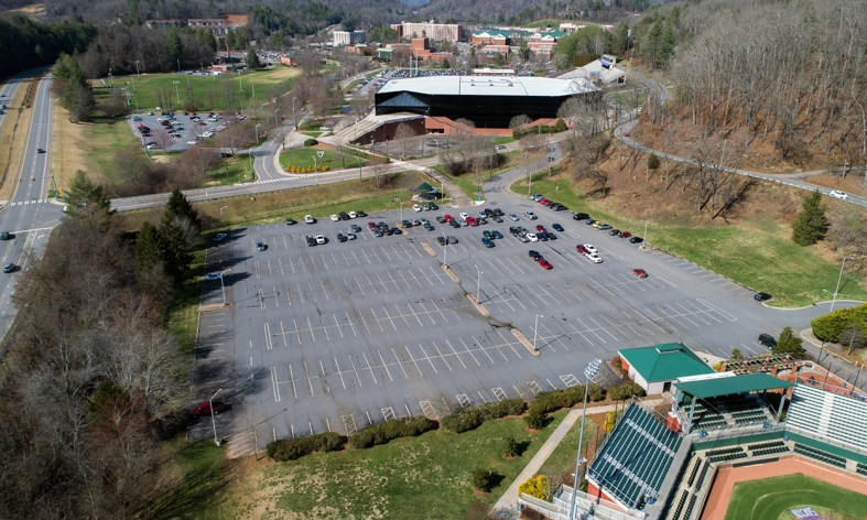 Baseball Lot aerial view
