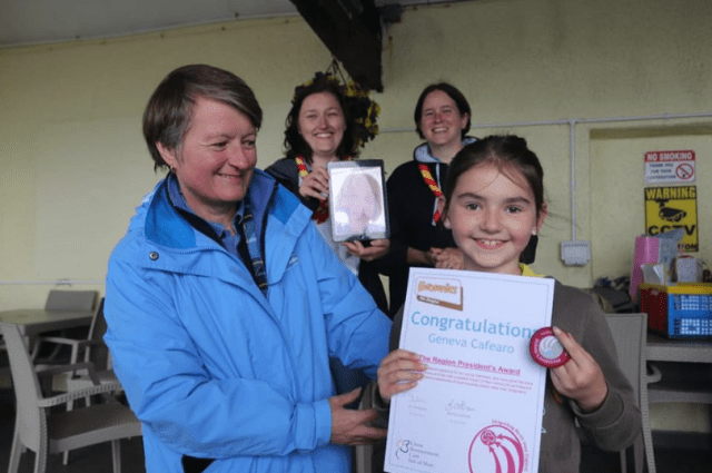 - Girlguiding IOM recently celebrated the success of one of their young brownies for fundraising efforts over lockdown. Geneva, of the 9th Douglas Brownies, was presented the North West Region Presidents Award in a virtual ceremony with the Region Chief Commissioner. Geneva was presented the award after raising £800 for Cruz kids, a bereavement charity on the island, over lockdown by dying her hair. A well deserved award Geneva, congratulations!