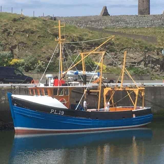 Alex Ironside's fishing boat in Peel