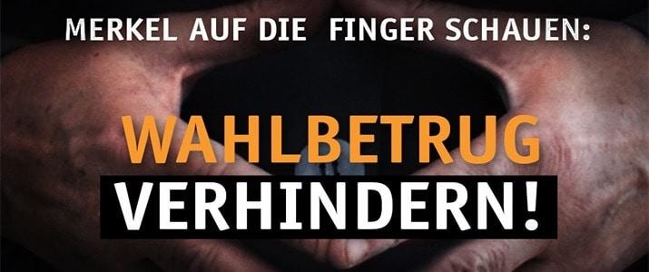 Merkel auf die Finger schauen! – Am 24. September Wahlbeobachter werden!
