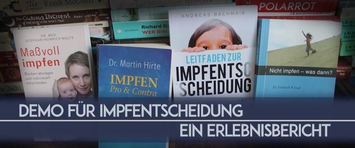 Demo: Für freie Impfentscheidung – gegen Zwangsmaßnahmen