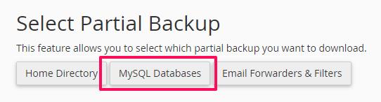 klik-mysql-databases-backup-wordpress-cpanel