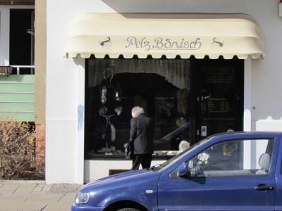 Pelzladen in der Kochstraße