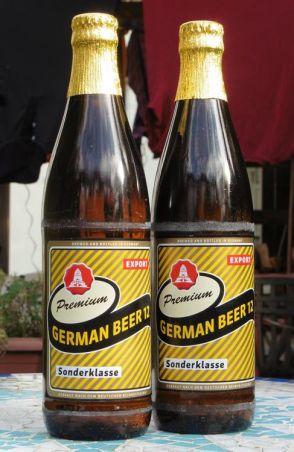German Beer, gekauft in Grünau, Oktober 2019
