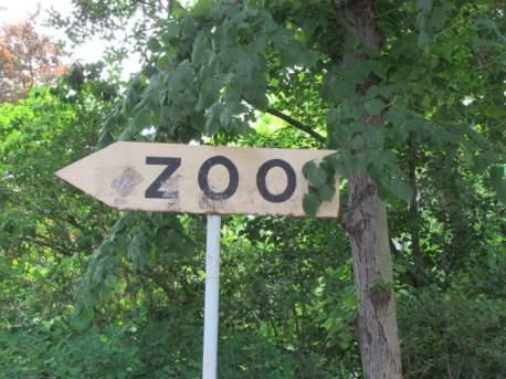 Altes Zoo-Schild