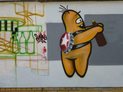 Sternburg-Maskottchen in der Oststraße