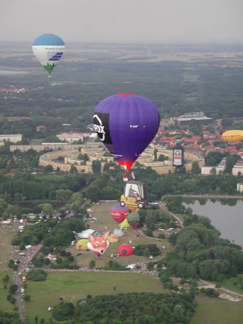 Blick aus dem Ballon