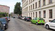 Sanierte Hofmeisterstraße mit Eislers Geburtshaus 2017