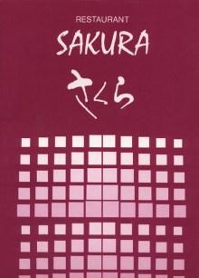 Speisekarte des Sakura