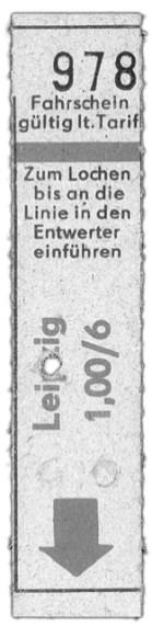 Fahrschnipsel, 1980er Jahre