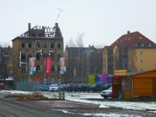 Blick vom Toom-Baumarkt zur Gießerstraße, Februar 2013
