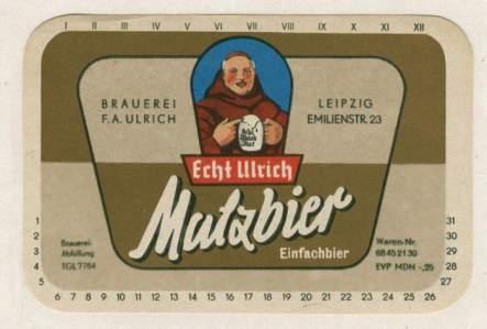 Cerveza de malta Ulrich
