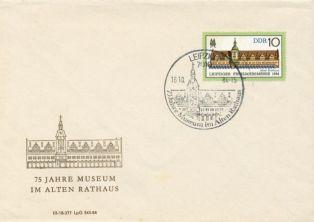 Briefumschlag mit Messebriefmarke, 1984
