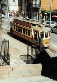 Alte Straßenbahn in Porto
