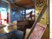 El interior del quiosco en Coppiplatz
