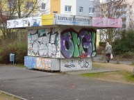 Quiosco en la Ratzelstrasse