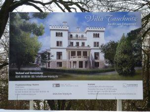 Zukünftige Parkansicht der Tauchnitz-Villa