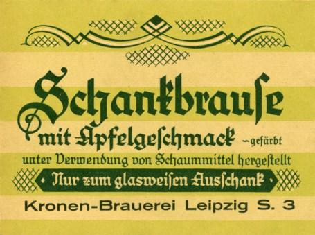 Schankbrause aus der Kronen-Brauerei