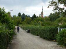 Emmausweg mit Emmauskirchturm