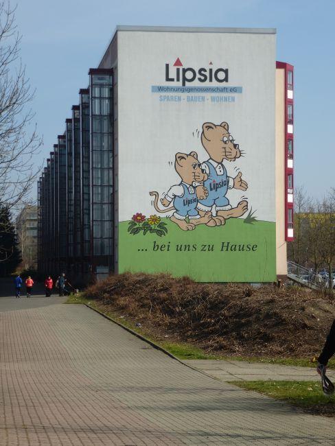 Lipsia-Giebel im Grünauer WK VIII