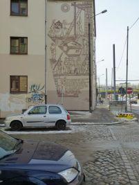 Früher unglaublicher Giebel, Lützner Straße