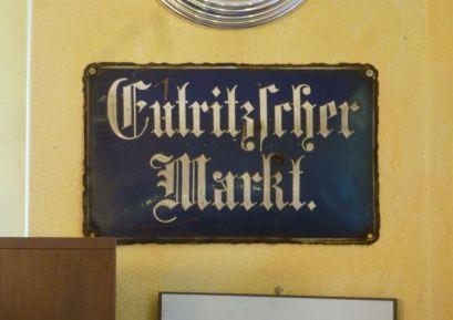 Altes Schild vom Eutritzscher Markt