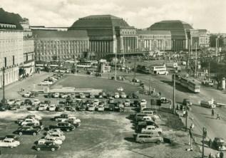 Hotel Astoria und Hauptbahnhof in den 1960ern