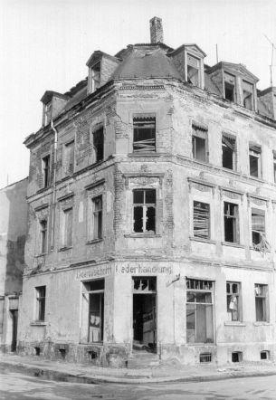 Lederhandlung, Zollikofer- / Ecke Idastraße, 1987