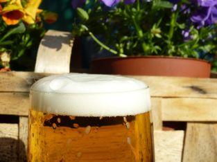 Bierchen im Garten