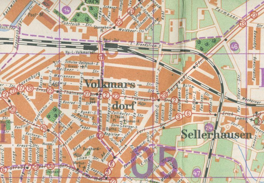 Stadtplan von 1954