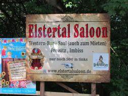 Auch der Elstertal Saloon verfügt über einen Freisitz