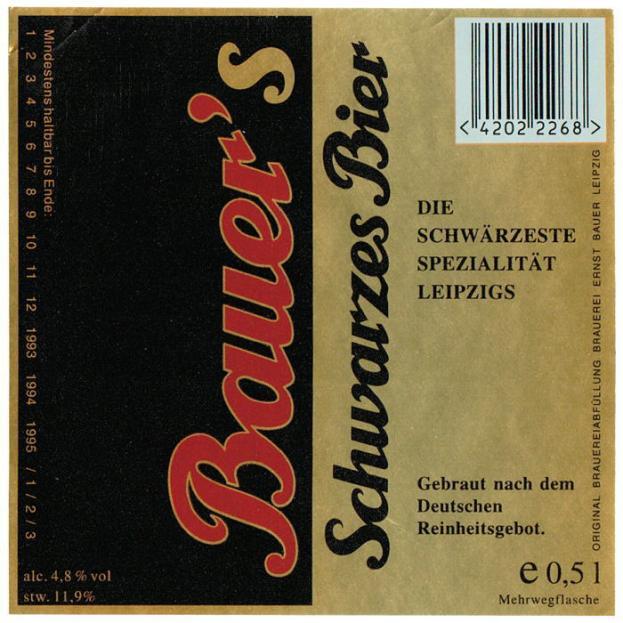 Bauers Schwarzes Bier, 1990er Jahre