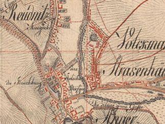 Sächsisches Meilenblatt von 1802 (Ausschnitt)