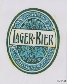 Lager-Bier aus Burghausen (Abb.: Heimatverein Burghausen)
