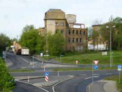Kreuzung von neuer B6 und Pittlerstraße