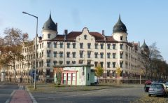 Hier treffen Theresien- und Schönefelder Straße aufeinander
