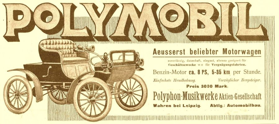 Polymobil-Reklame von 1905