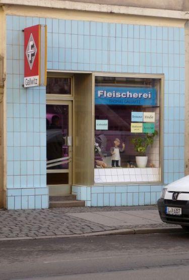 Fleischerei Gallwitz in der Jahnallee, Januar 2014