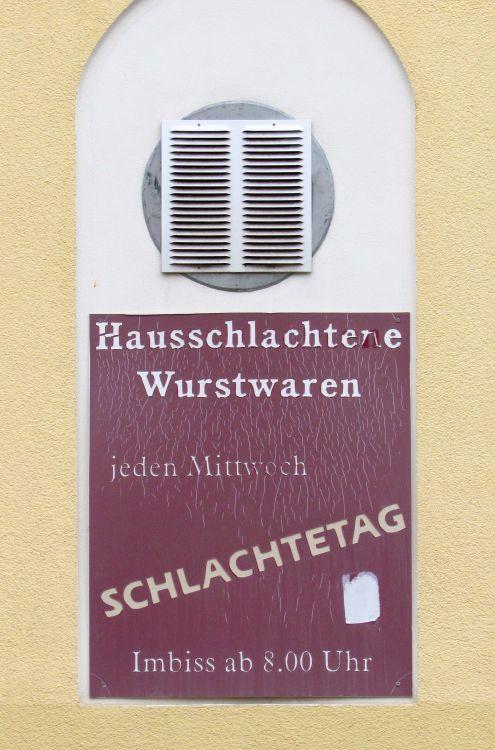 Fleischerei in Schönefeld, April 2016