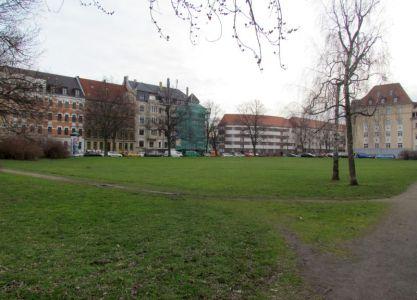 Riebeckteich heute: Alfred-Frank-Platz (Holsteinstraße)